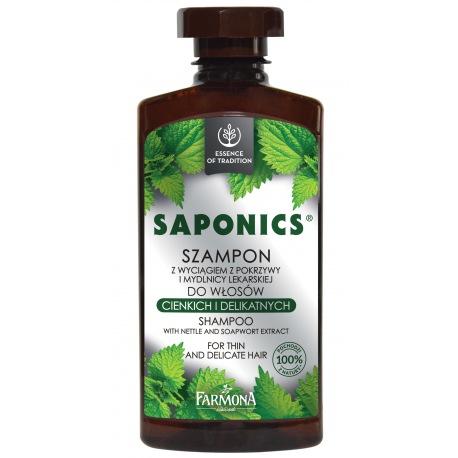 Saponics Szampon z wyciągiem z pokrzywy 330ml