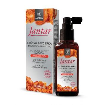 JANTAR Odżywka-wcierka z wyciągiem z bursztynu do skóry głowy i włosów zniszczonych 100ml
