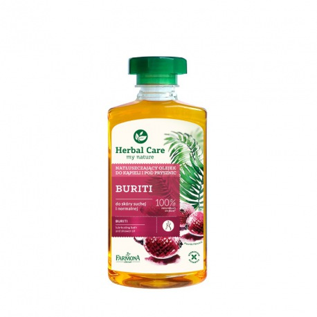 Herbal Care Natłuszczający olejek do kąpieli i pod prysznic BURITI 330ml