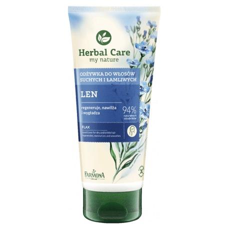 HERBAL CARE Odżywka do włosów suchych i łamliwych LEN 200ml