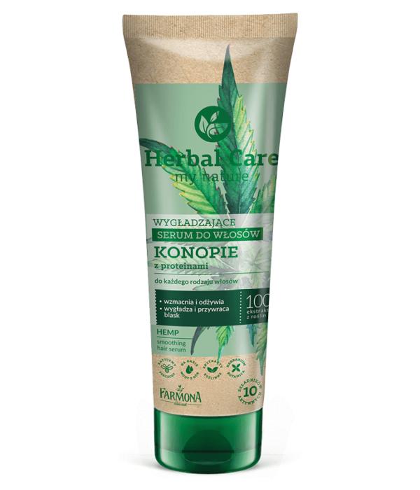 Herbal Care Wygładzające serum do włosów KONOPIE z proteinami
