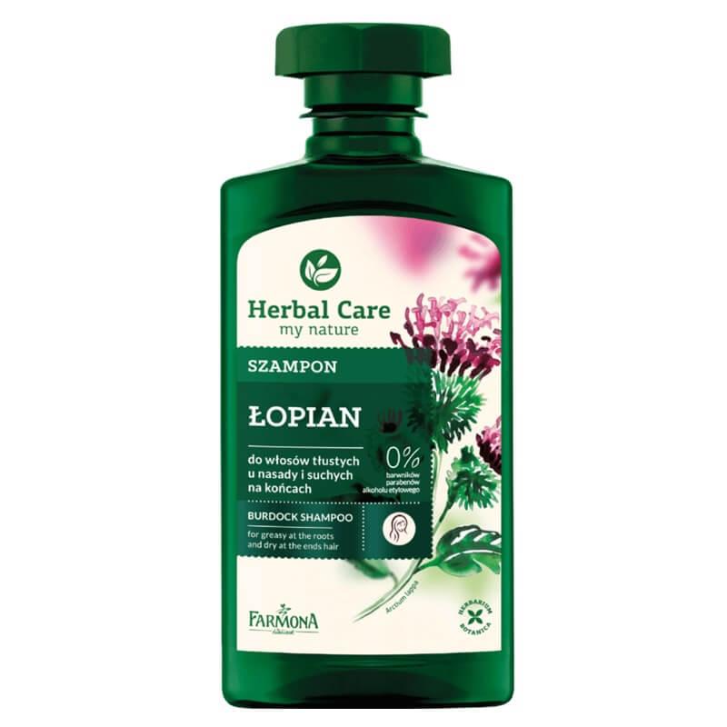 Szampon Łopian Herbal Care do włosów tłustych u nasady i suchych na końcach