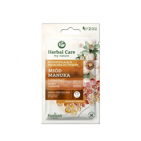 Herbal Care Maseczka rozświetlająca z miodem manuka