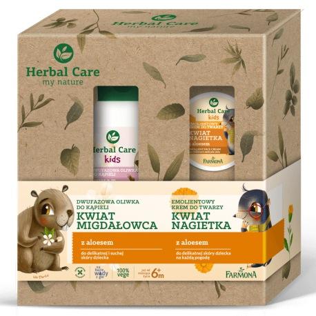 Zestaw Herbal Care KIDS (Dwufazowa oliwka do kąpieli, oleo krem)